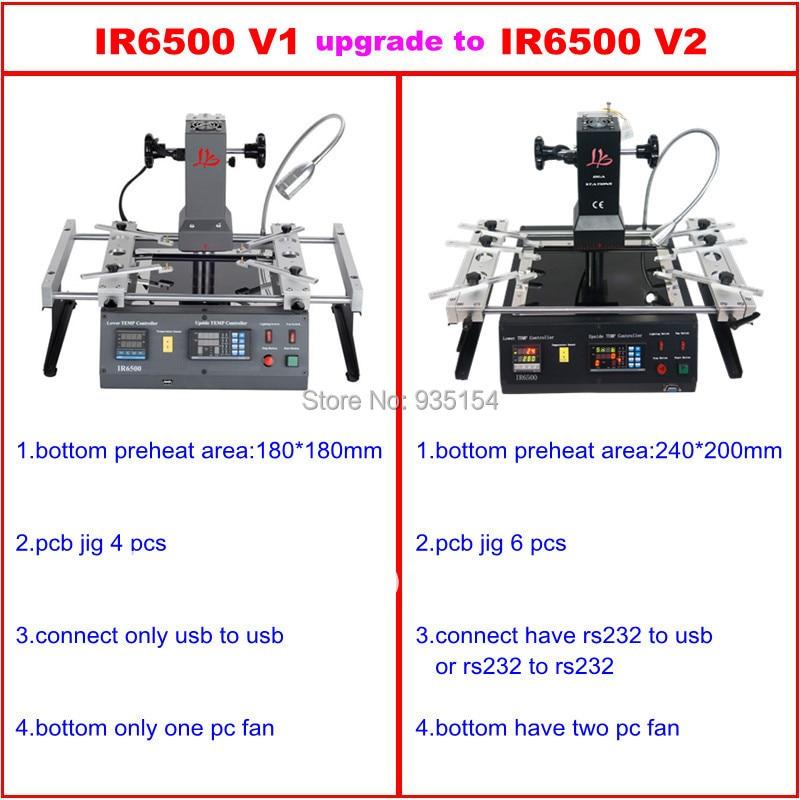 IR6500 V.2 Infrared BGA Rework Station bga machine with bigger preheat area 240*200mm USB port tax free to Russia