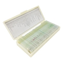 50 PCS Prepared Basic Science Microscope Slides Learning Resources Prepared Slides in Box for Teaching Learning
