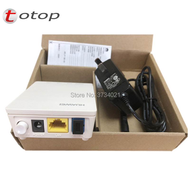 5pcs Free Shipping 99% New Onu Gpon Epon Huawei Hg8010h FTTH Fiberhome Onu Modem Secondhand English Version With Power Adapter