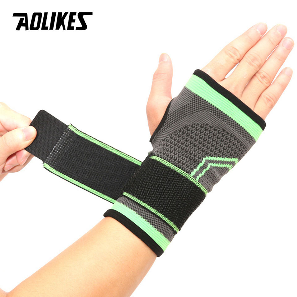 AOLIKES 1PCS High Elastic Bandage Fitness Yoga Hand Palm Brace Wrist Support Crossfit Powerlifting Gym Palm Pad Protector practical wrist strap fitness gym fitness strap hand peace fingers palm wrist protector dumbbells horizontal bar sports gloves