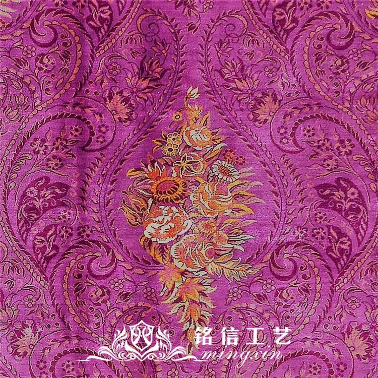 7'x10' tapis de soie persan noués à la main tapis de zone orientale en soie tissée à la main - 5