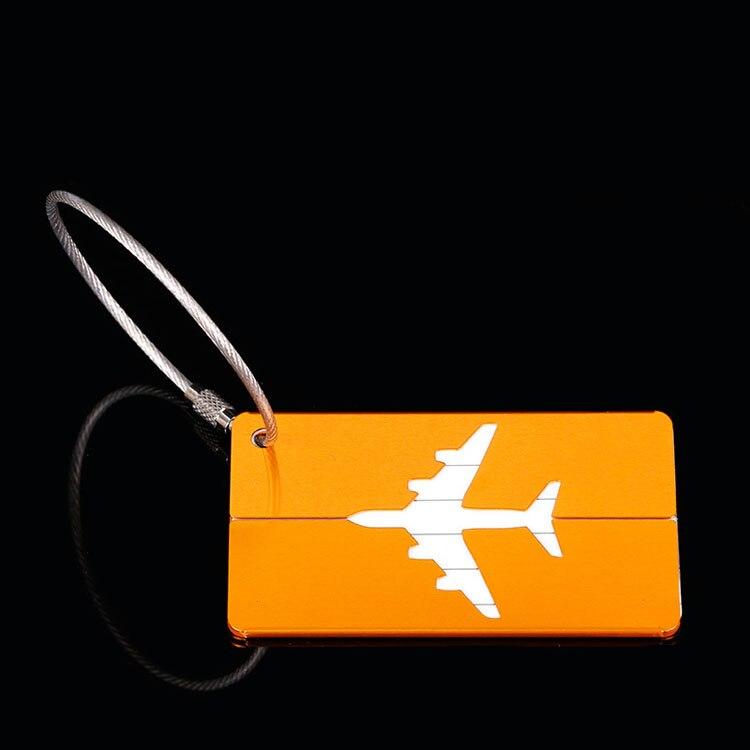 OKOKC багажные бирки из алюминиевого сплава, багажные бирки, ярлыки для багажа, аксессуары для путешествий - Цвет: Golden