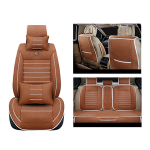 Image 4 - Universal flax car seat cover For Toyota Corolla Camry Rav4 Auris Prius Yalis Avensis SUV auto accessories car sticks