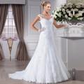 Mermaid Wedding Gowns Robe de mariage Vestido de noiva casamento See Through Back Sexy Lace Wedding Dress Bridal Gown Pure White