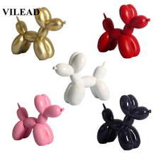 VILEAD 17cm Resin Nordic Balloon Dog Creative Home Soft Decorations Desktop Living Room Cake Bakery Shop Crafts New Year Decor