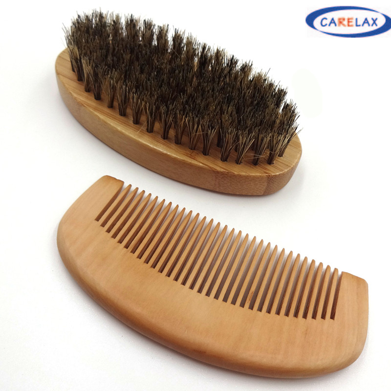 Wood Handle Natural Pig On The Hair Brush Facial Beard Cleaning Men's Shaving Brush Barber Salon Appliance Tools 004