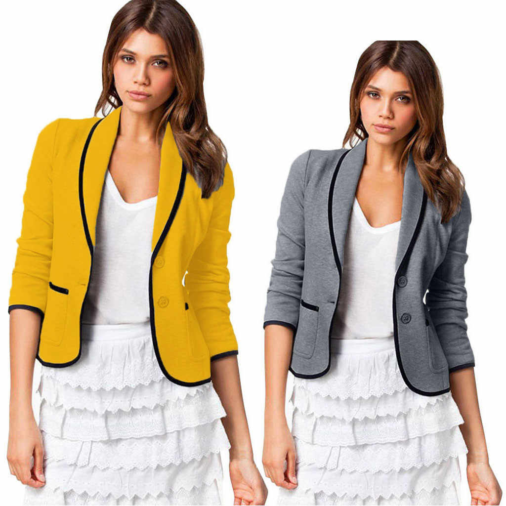 trend Women Business Coat Blazer Suit Long Sleeve Tops Slim Jacket Outwear Size S-6XL High quality cheap clothes china new 71