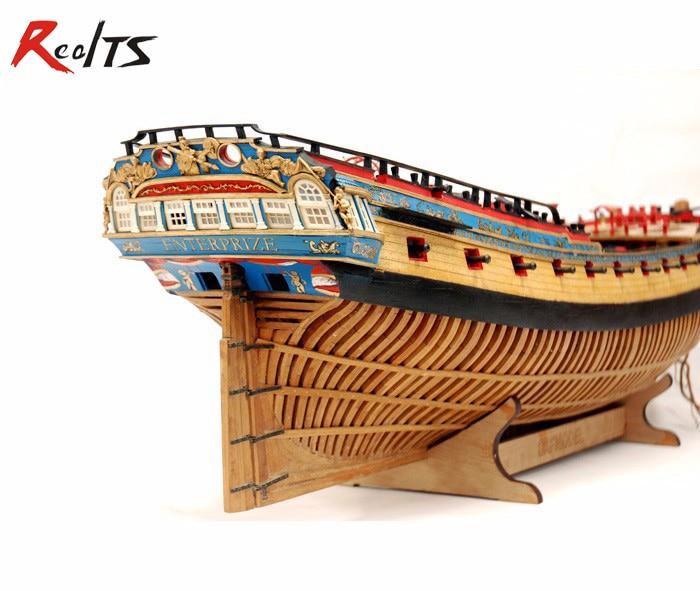 RealTS Scale 1/48 HMS Enterprise Wood Ship Model Kit