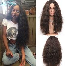 Peluca marrón Largo Rizado Peluca Sintética Cosplay Afroamericano pelucas Para Las Mujeres Negras Peluca Rizada Larga Lolita Pelo Falso Perruque
