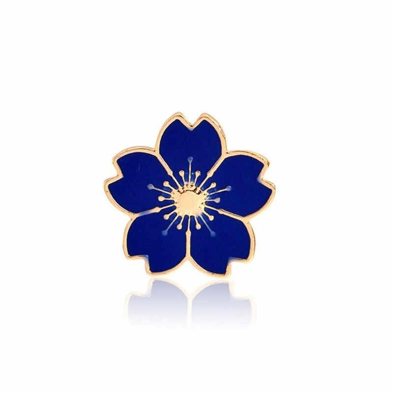 Blu Bianco Spille k Nero Rosso 5 Colori Piccoli Fiori Spilla Spille Ago Logo Del Sacchetto Del Merletto di Abbigliamento Ornamenti Delle Donne Gioelleria raffinata e alla moda