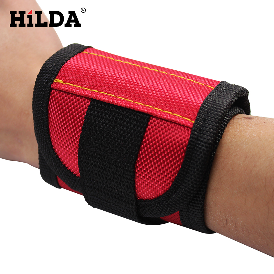 HILDA 13.8'' Wrist Support Band Tool Belt Bracelet Screw Kit Magnetic Wristband 2Pcs /3Pcs Magnet hilda magnetblock strong magnetic tool wearing a helicopter suction magnetic receive article