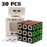 30 шт.. QiYi CiYuan Dimension Magic cube 56 мм Cubo magico гладкая Прозрачная черная наклейка Головоломка Куб Классические игрушки Neo cube