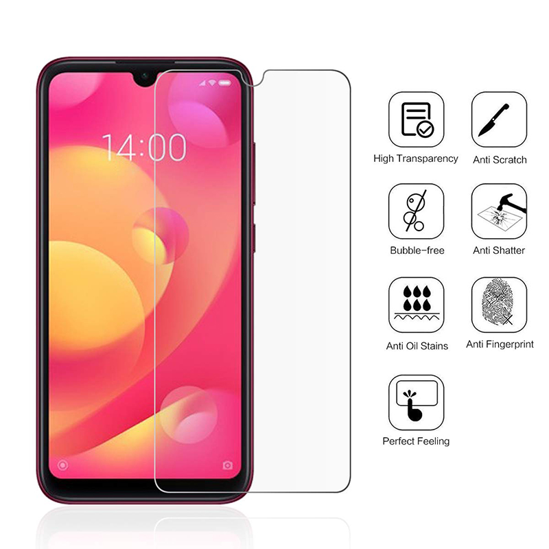 Image 2 - 2Pcs Tempered Glass For Xiaomi Mi Play Screen Protector 9H 2.5D Phone On Film Protective Glass For Xiaomi Mi Play Glass-in Phone Screen Protectors from Cellphones & Telecommunications