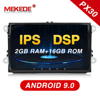 Mekede PX30 DSP+IPS android 9.0 Car multimedia Player Navigation GPS DVD for VW/Golf/Tiguan/Skoda/Fabia/Rapid/Seat/Leon WIFI BT