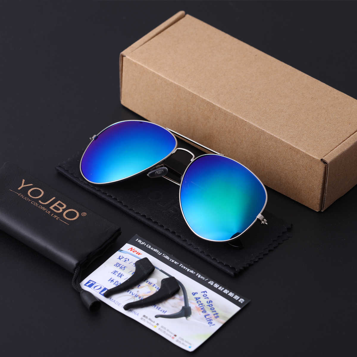 YOJBO Luxury Pilot Sunglasses Men Alloy Frame Mirror Coating Lens Women Driving Designer Brand UV400 Shades Luxury UV400 Glasses