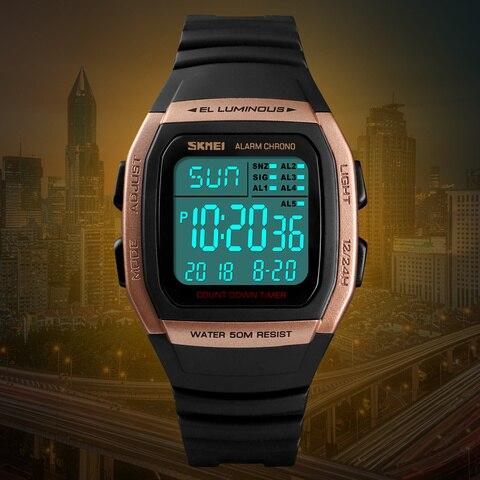 SKMEI Fashion Men Watches Sports Digital Watch Waterproof Alarm Man Wrist Electronic Clock Men Relogio Masculino Lahore