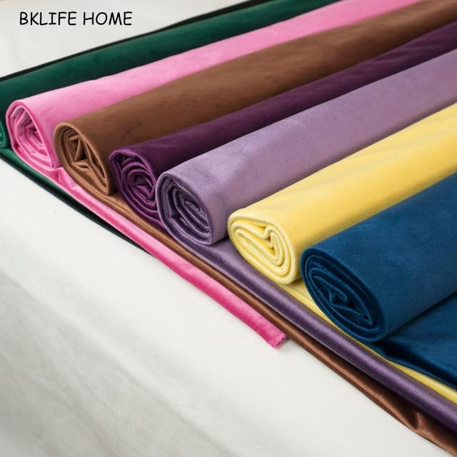 150 cm fluwelen stof velours stof tafelkleed cover bekleding gordijn kussen stof rood groen bruin blauw