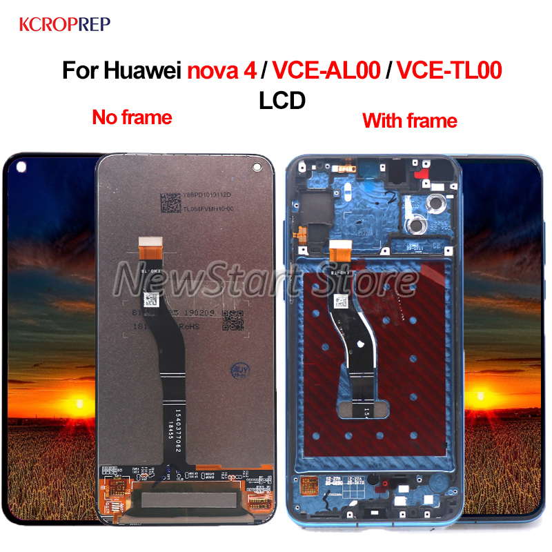 For Huawei nova 4 VCE-AL00 VCE-TL00 LCD Display Touch Screen Digitizer Assembly 6.4 For Huawei nova 4 lcd Replacement AccessoryFor Huawei nova 4 VCE-AL00 VCE-TL00 LCD Display Touch Screen Digitizer Assembly 6.4 For Huawei nova 4 lcd Replacement Accessory