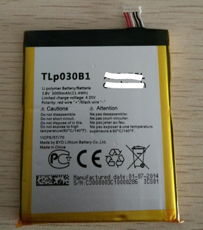 Mobile phone battery fit for Alcatel One Touch Pop S7 OT-7045 <font><b>7045Y</b></font> TLP030B1 TLP030B2 batteries image