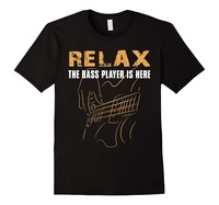 Male Pre Cotton Clothing 100 Cotton Gildan Short Bass Player Relax The Bass Player Is Here