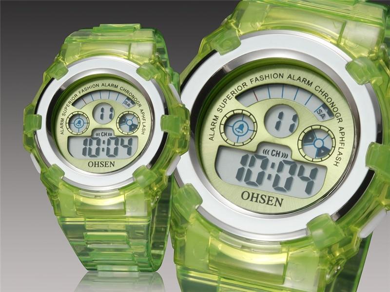 OHSEN Kids Watches Children Digital LED Fashion Sport Watch Cute Boys Girls Wrist watch Waterproof Gift Watch Alarm Kids Clock (12)