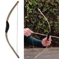Traditional Children Kid Archery Hunting Toy Role Play 3 Arrows Quiver Wood Wooden Bow Set Kit