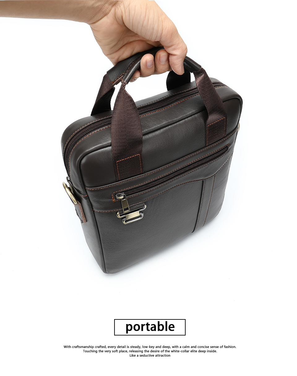 Men \' s Shoulder Bag Male Genuine Leather Crossbody Bags for Men Messenger Bag Casual Vintage Clutch Handbags bolsos 16