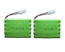 2 paquete 12 V 2400 mAh ni-mh bateria 12 V RC batería NiMH pilas recargables 12 V paquete 10X tamaño AA Ni MH para la batería del juguete del coche del RC