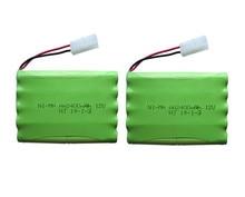 2pack 12v 2400mah ni mh bateria 12v rc battery nimh battery pilas recargables 12v pack 10x
