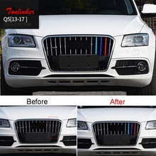 Tonlinker Cover sticker For AUDI Q3 Q5 2013-17 Car Styling 3 PCS ABS Exterior 3 colors Racing grills Decoration Cover sticker