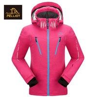 2018 Бесплатная доставка PELLIOT высокое качество женские лыжные непромокаемые супер теплые горные уличные лыжные женские лыжные куртки