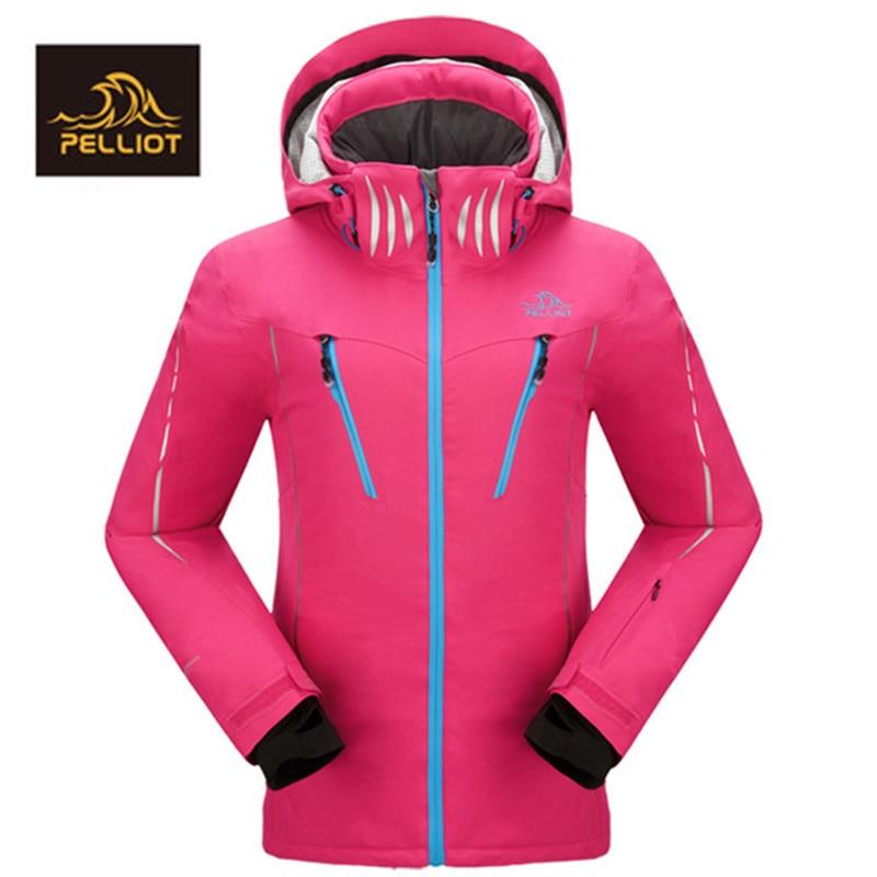 FREE SHIPPING PELLIOT Top Quality Women`s Ski  Waterproof Super Warm Mountain Outdoor Skiing Female Ski Jacket