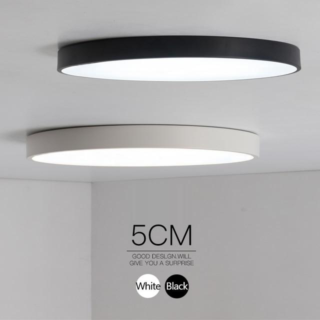 Minimalista Nero/Bianco arte moderna led lampadario per soggiorno ...