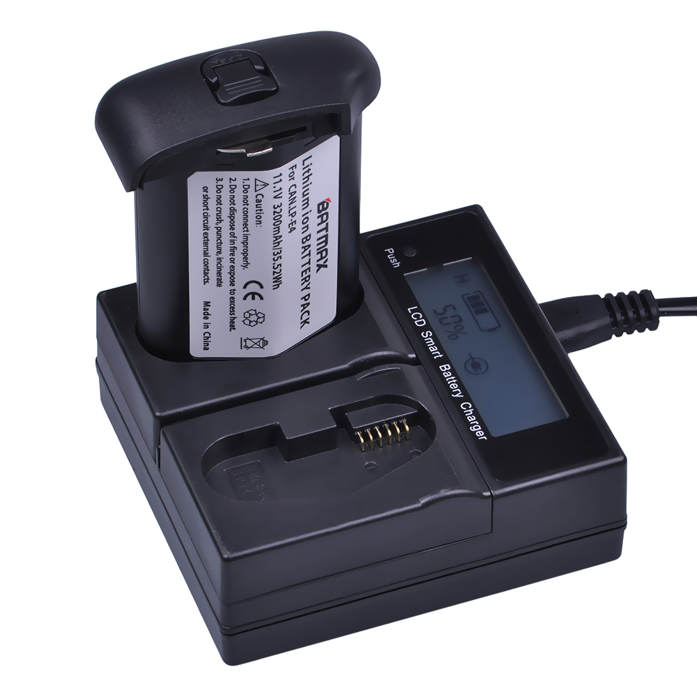 1 Pc 3200 mAh LP-E4 LP E4 LPE4 batterie Akku + LCD double chargeur rapide pour Canon EOS 1D Mark 3 III 1DX Mark 4 IV 1DX appareils photo reflex numériques