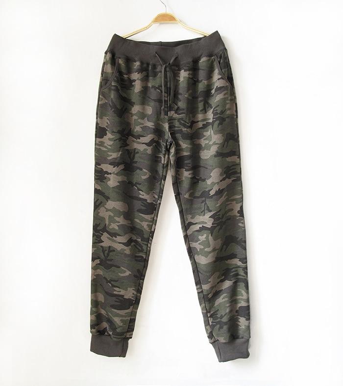Männer Camouflage Jogger Hosen Plus Große Größe Baumwolle Terry Lässige Workout Jogginghose Kordelzug Elastische Taille Lose Toursers