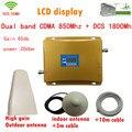 Conjunto completo LCD reforço!!! Dual band 3g wifi repetidor celular gsm 850 Mhz/1800 Mhz 4G LTE amplificador de sinal de telefone celular impulsionador 65dB