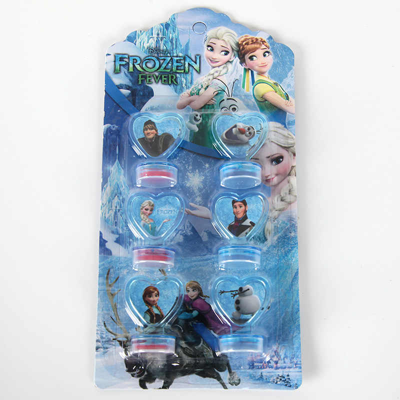 6Pcs/set Frozen Seal Anna and Elsa Stamper Children DIY Diary Decorative Painting Scrapbooking Frozen Party Supplies Gift