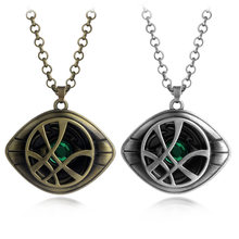 HOT Movie The Avengers Infinity War Doctor Strange Necklace Crystal Eye of Agamotto Pendant Jewelry High quality Men jewelry(China)