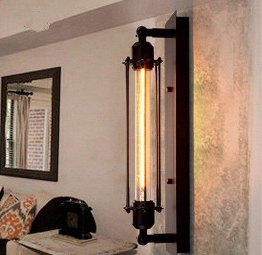 Vintage wall lamp American industrial loft sconce wrought iron edison bulb lamparas luminaria E27 110-240V