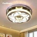 22 дюймов пост-Современный Цветочный Кристалл Потолочный светильник поверхностного монтажа для гостиной столовой спальни светильник с дис...