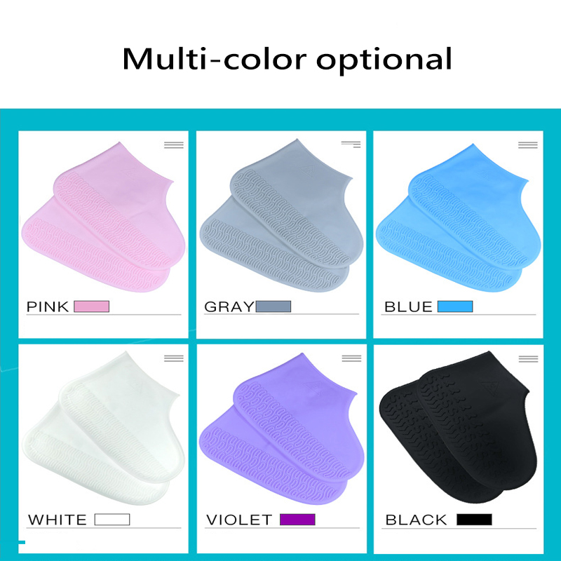Thicken Shoe Cover Silicon Gel Waterproof Rain Shoes Covers Reusable Rubber Elasticity Overshoes Anti slip Boots for Child Adult in Umbrella Accessories from Home Garden