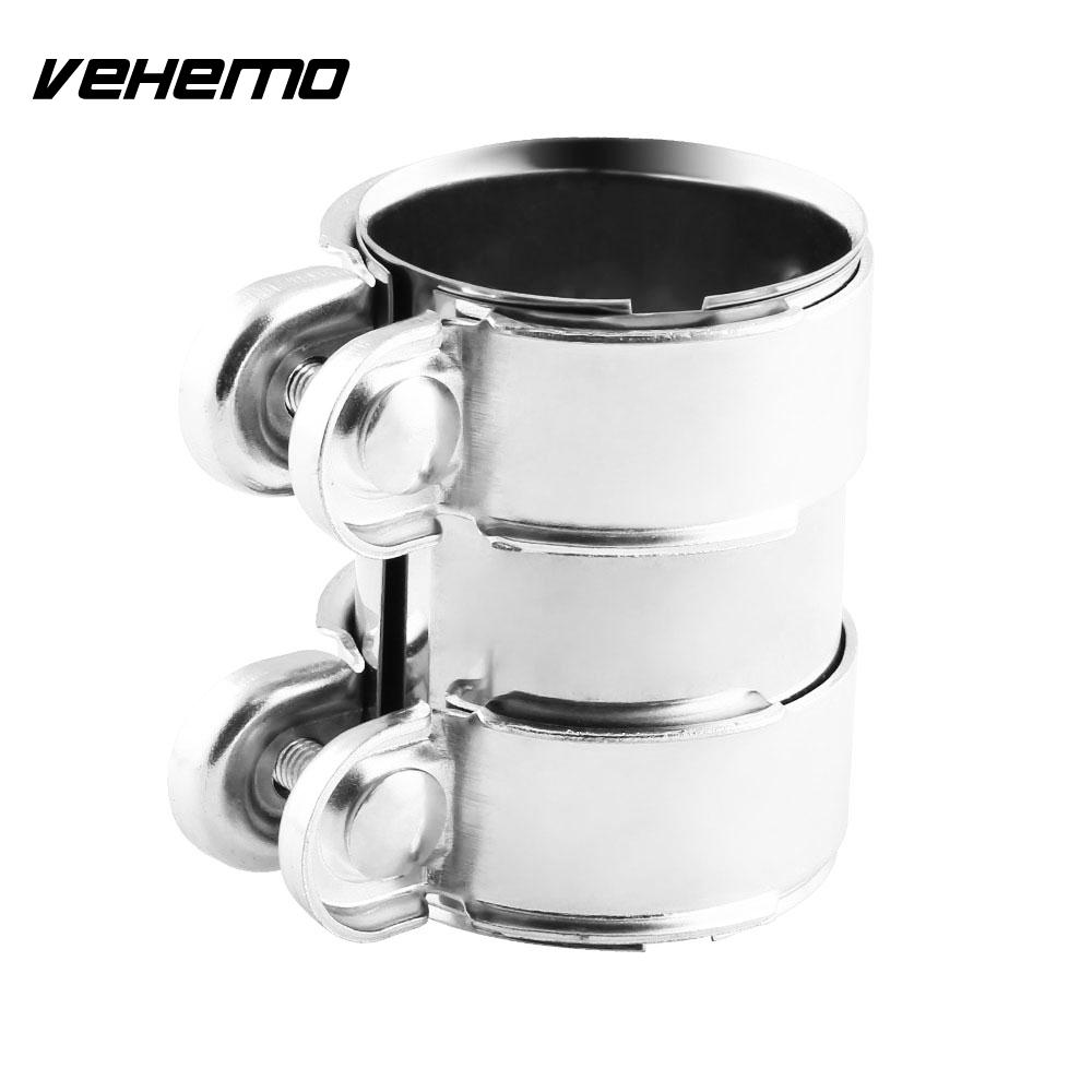 Auto Replacement Parts Vehemo Sliver 2/2.5inch Exhaust Pipe Hoop Exhaust Pipe Clip Rear Round Tail Muffler Hoop Clamp Replacement Durable High Quality And Inexpensive