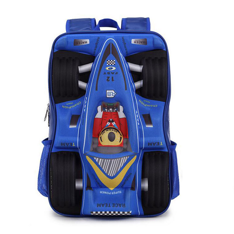 For 2017 3D Car School Bag EVA Cool Boy School Bags Kid Backpack Children School Backpack