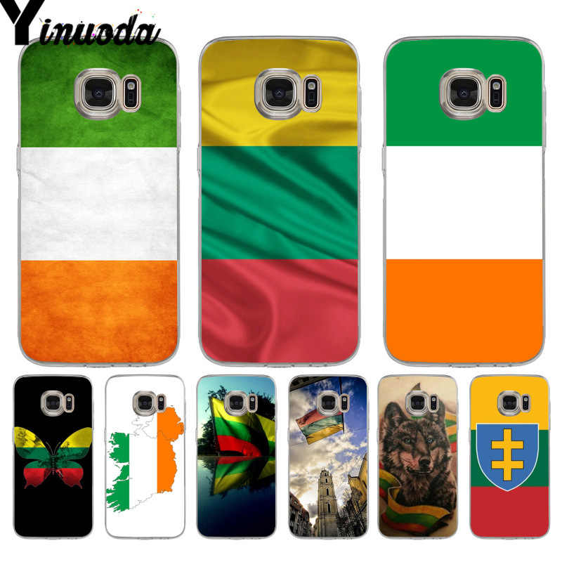 online store 7d8f4 636f0 Yinuoda Ireland Lithuania Flag Pattern tpu Soft Phone Cover Case for  samsung galaxy s9 plus s7 edge s6 edge plus s5 s8 plus case