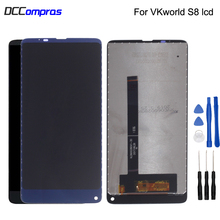 For VKworld S8 LCD Display Touch Screen Digitizer Original Repair Parts Phone Free Tools
