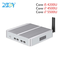 Core i7 5500U i5 4200U XCY Mini PC Windows 10 dual LAN HDMI VGA port mini HTPC mini computer 2955U 3G/4G module 2.5inch HDD