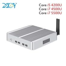 Core i7 5500U i5 4200U XCY Mini PC Windows 10 dual LAN HDMI VGA port mini HTPC mini computer 2955U 3G/4G module 2.5inch HDD