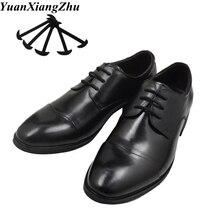 лучшая цена 12pcs/set Leather Silicone Shoelaces sneakers shoes lace Lazy No Tie Shoelaces Elastic Silicone ShoeLace Suitable Unisex laces