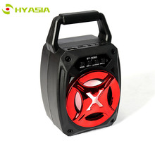 цена HYASIA Outdoor Wireless Speaker Bluetooth Single Portable Speakers bass colorful led loudspeaker support TF card USB FM Radio