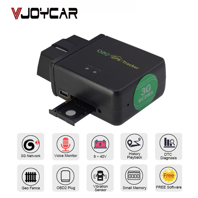 GPS Tracker Car OBD Locator Rear 3G 4G 2G OBDii Diagnostic Tool DTC Code Voice Monitor Vibration Alarm Geo Real Time Tracking!